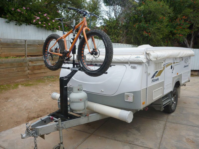 Isi Extreme Duty Bicycle Carrier For The Jayco Camper Trailer Drawbar