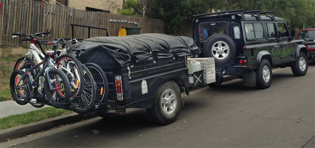 The Quirky Camper Trailer Is Manufactured From Another Land Rover Defender Donor Vehicle What A Ripper