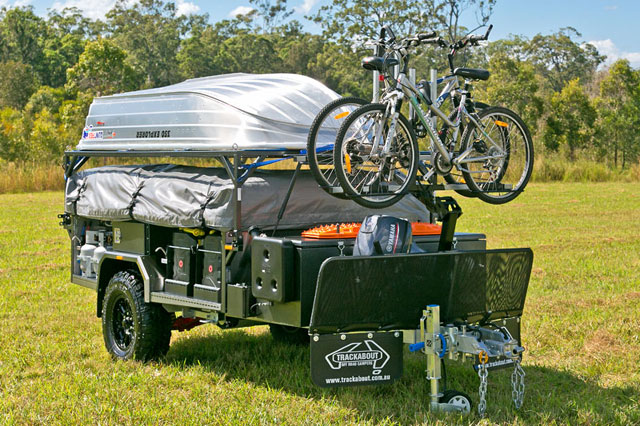 Trackabout Camper Trailer Off Road Bicycle Carrier
